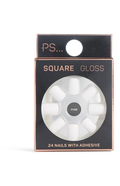 Quadratische, glänzende Kunstnägel