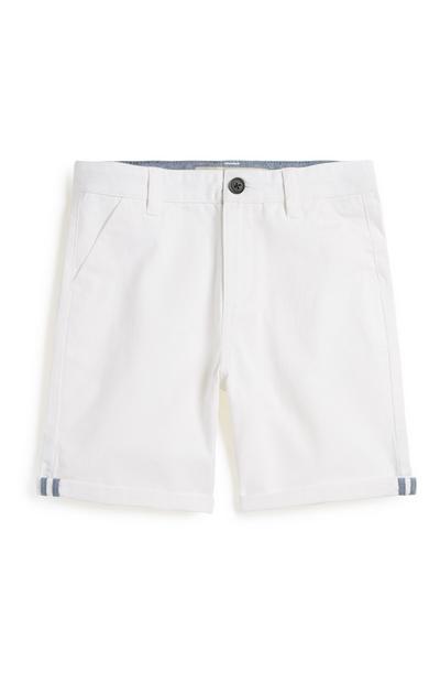 Weiße Chino-Shorts (Teeny Boys)