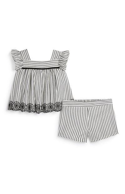 Gestreiftes Outfit-Set für Babys (M)