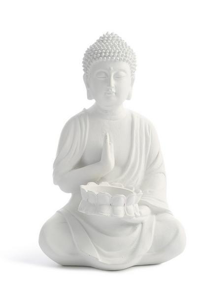 Weißer Deko-Buddha