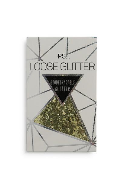 Biologisch abbaubarer Glitzer in Gold