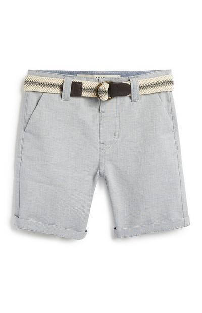 Graue Shorts mit Gürtel (kleine Jungen)