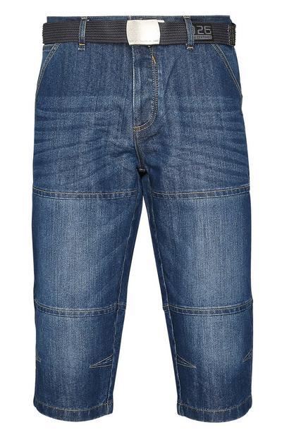 Jeansshorts mit Gürtel