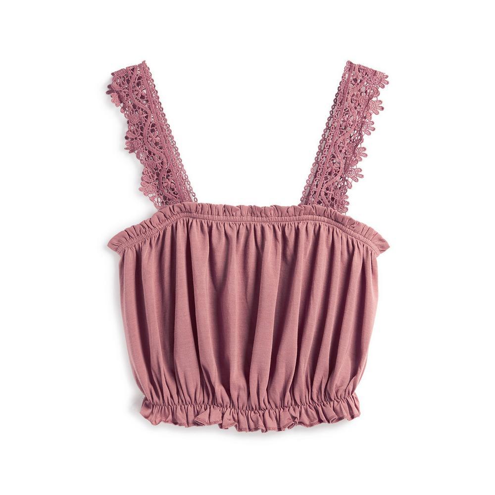 dark-pink-bandeau-top by primark