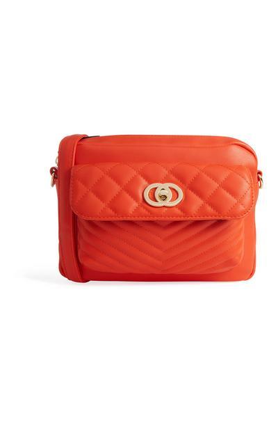 Gesteppte Tasche in Orange