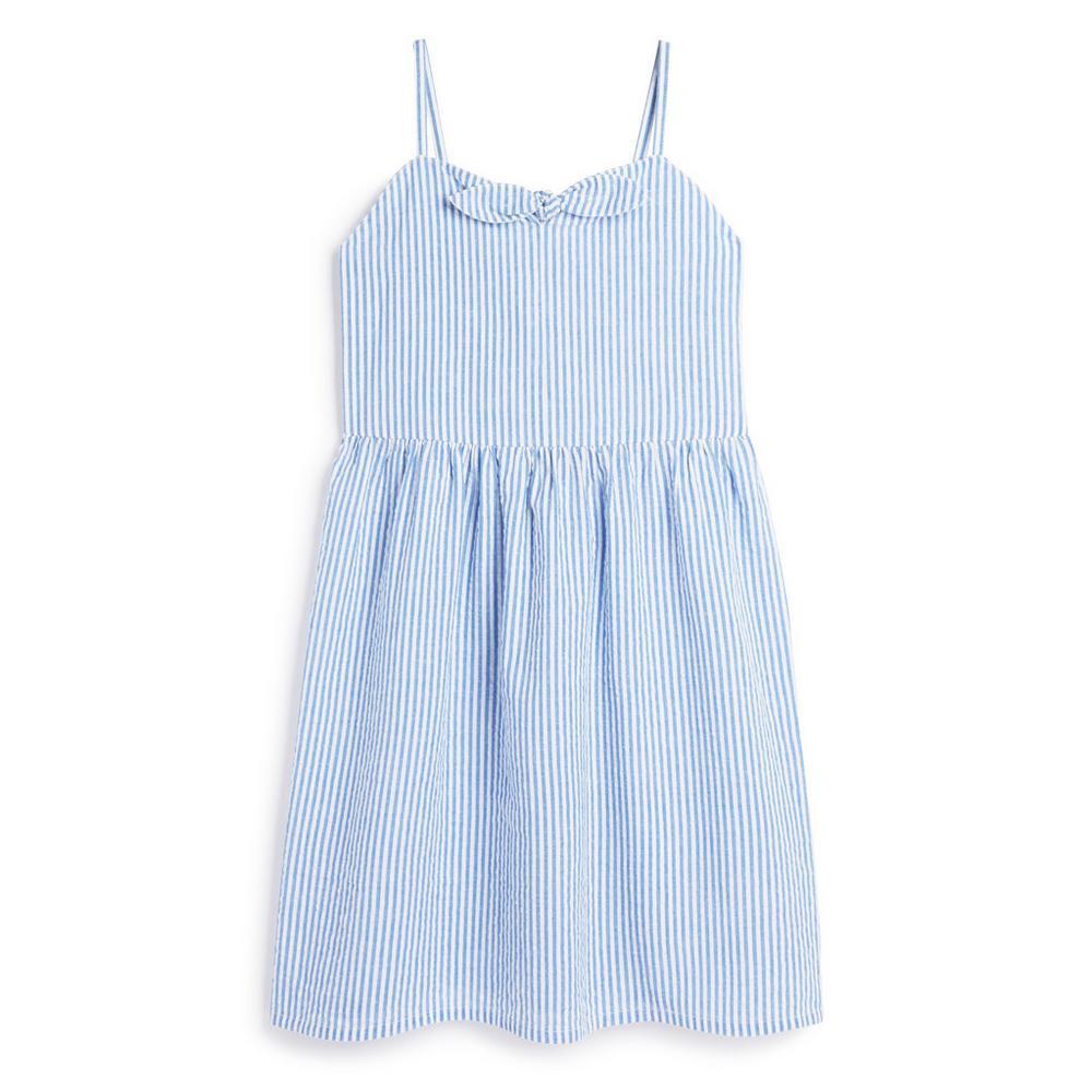older-girl-blue-stripe-dress by primark