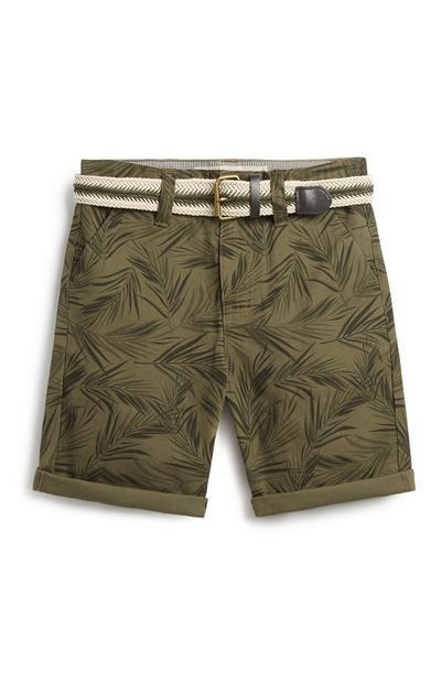 Older Boy Belted Chino Shorts
