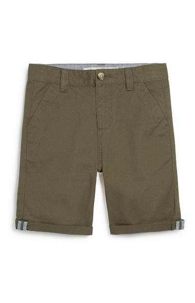 Older Boy Khaki Chino Short