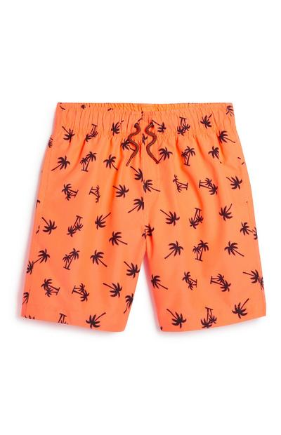 Older Boy Palm Print Short