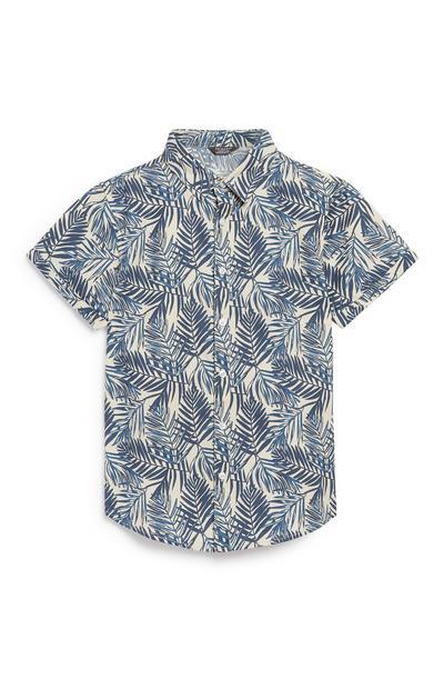 Hemd mit Palmenprint (Teeny Boys)