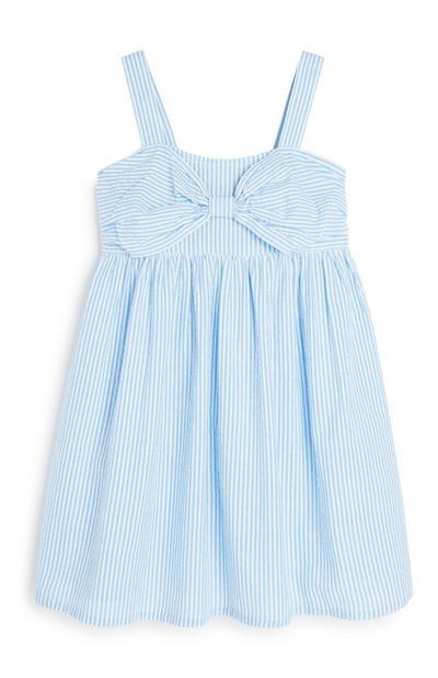 Blau gestreiftes Kleid (kleine Mädchen)