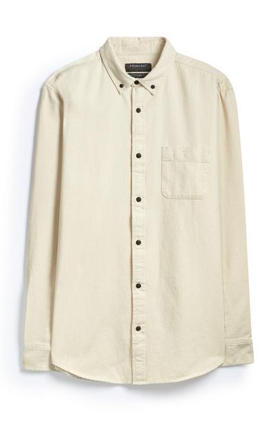 Cream Denim Shirt