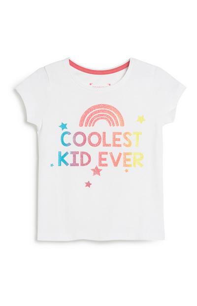 T-Shirt mit Slogan (kleine Mädchen)