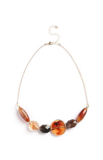 Halskette mit Ziersteinen