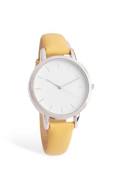 Uhr mit gelbem Armband
