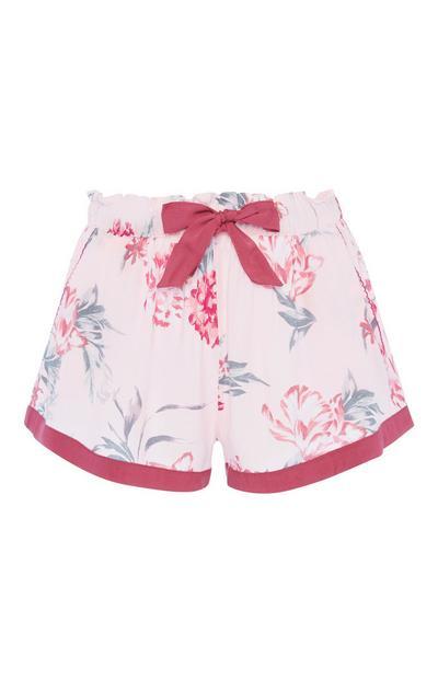 Blush Floral Shorts