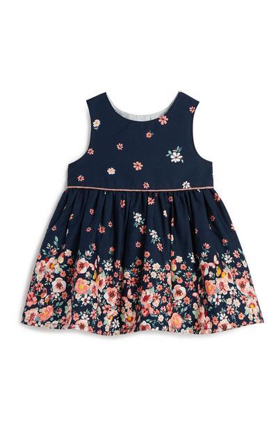 Blaues Kleid mit Blumen für Babys (M)