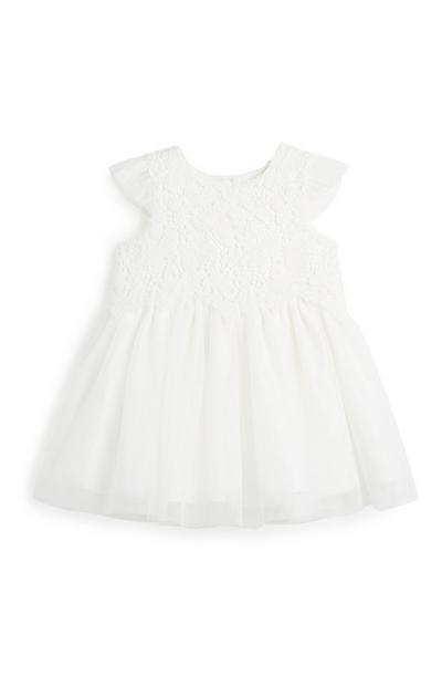 Elfenbeinfarbenes Kleid für Babys (M)