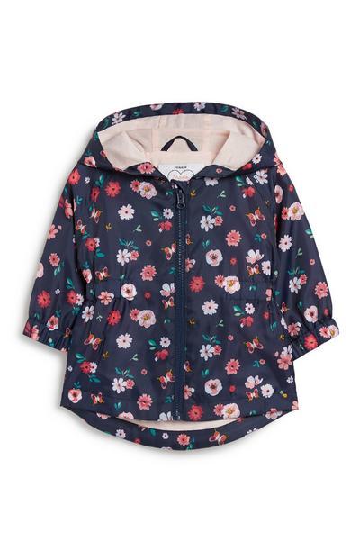Baby Girl Floral Rain Coat