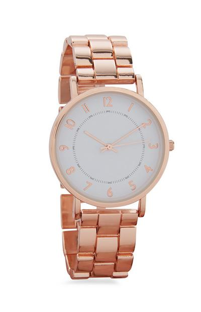 Roségoldfarbene Armbanduhr