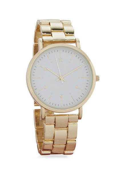 Goldfarbene Armbanduhr