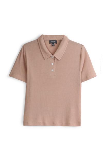 Hellbraunes Poloshirt