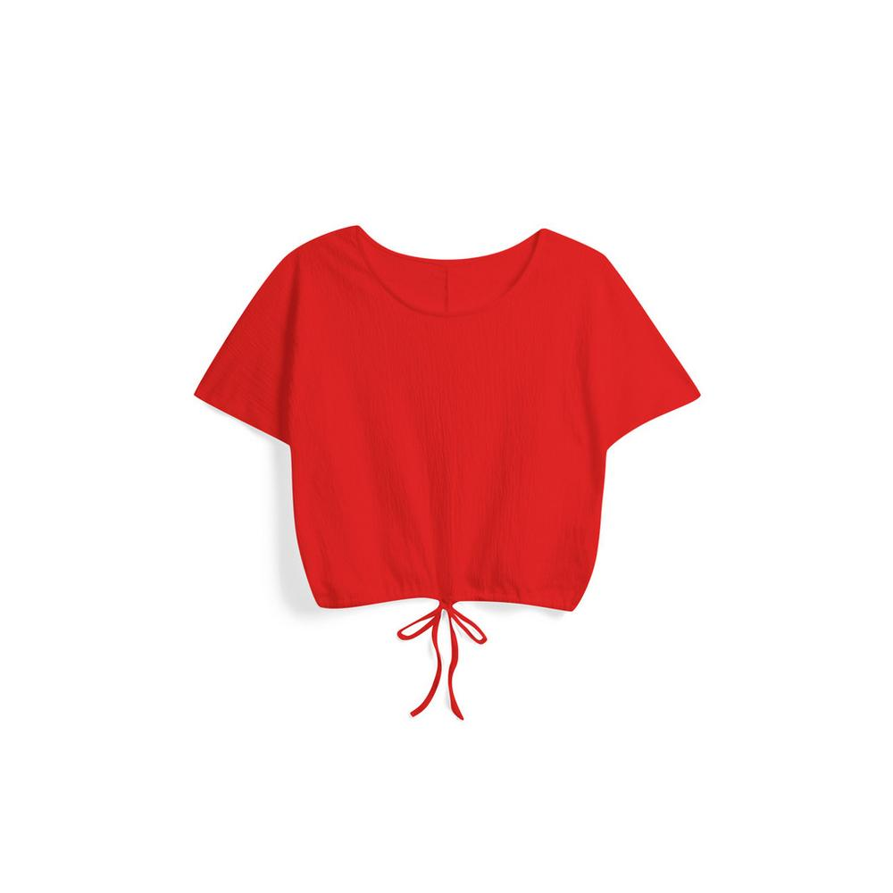 offizielle Fotos 7429b 99a3a Red Drawstring Crop Top | T-Shirts | Womens | Categories ...