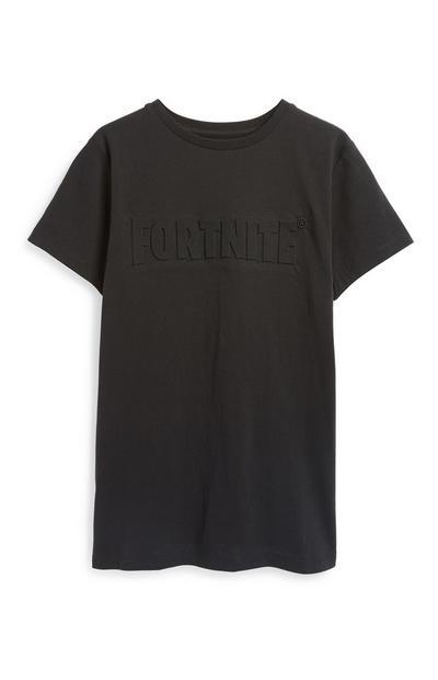 "Schwarzes ""Fortnite"" T-Shirt"