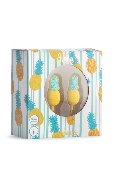 Kopfhörer im Ananasdesign