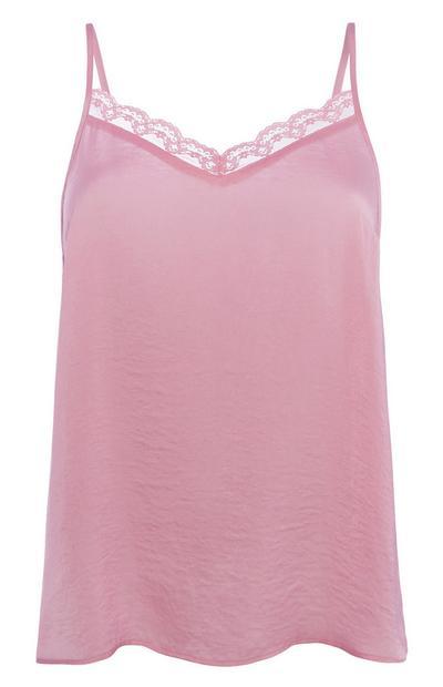 Rosafarbenes Pyjama-Trägertop