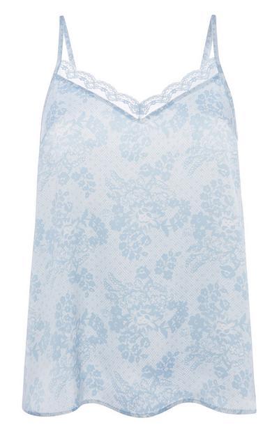 Blaues Pyjama-Trägertop