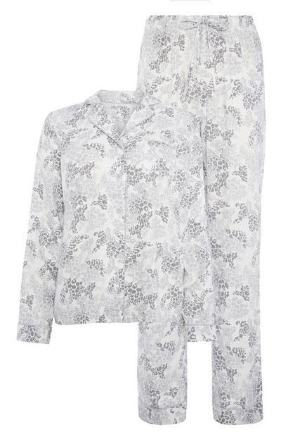 Graues Pyjamatop