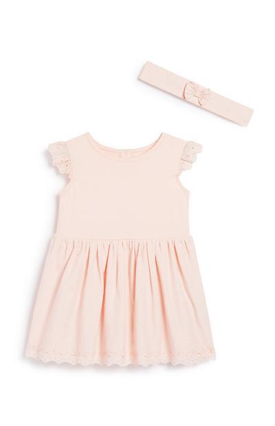 Kleid und Haarband für Babys (M)