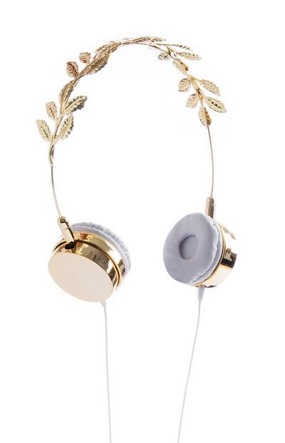 Kopfhörer mit Blättern