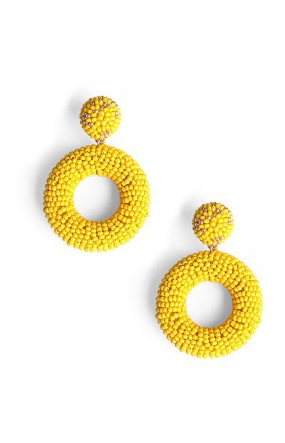 Ohrringe mit gelben Zierperlen