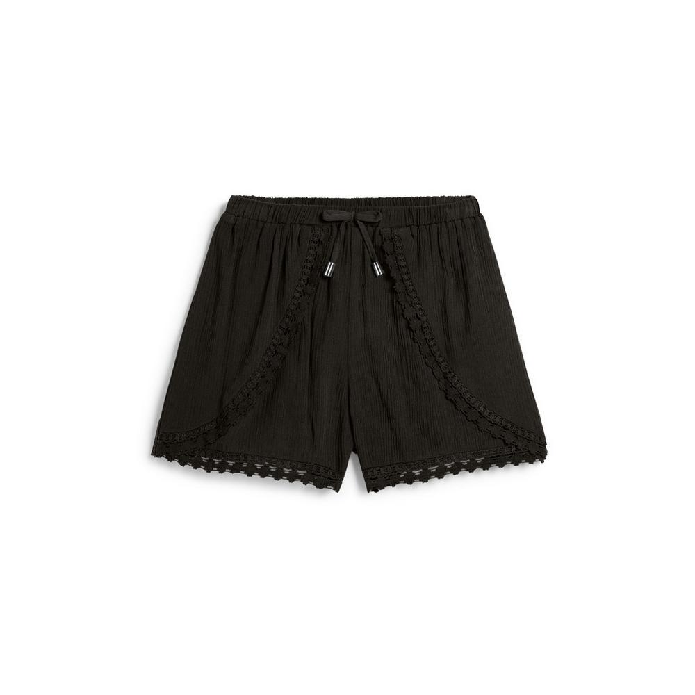 Older Girl Black Crochet Short Older Girls Shorts Girls Wear