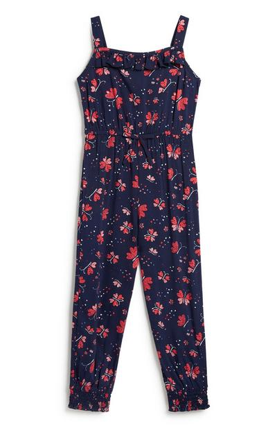 Jumpsuit mit Blumenmuster (kleine Mädchen)