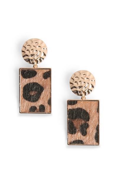 Ohrringe mit Leopardenmuster