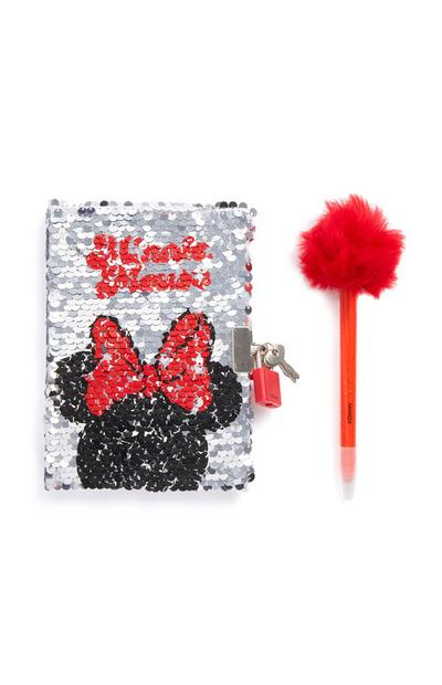 """Minnie Maus"" Notizbuch mit Stift"