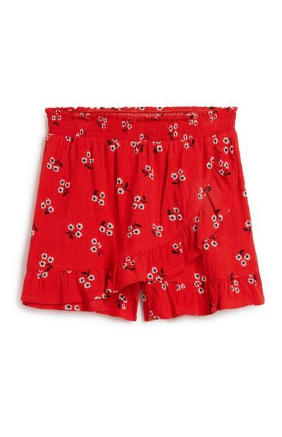Rote Skorts mit Rüschen (Teeny Girls)