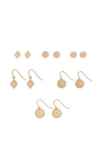 Verschiedene Ohrringe, 6er-Pack