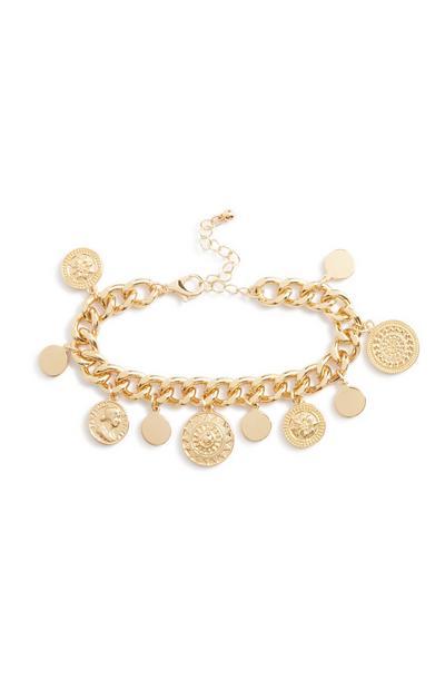 Armband mit Münzanhängern