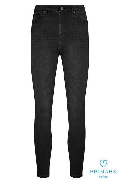 Black High Waisted Sustainable Cotton Jeans