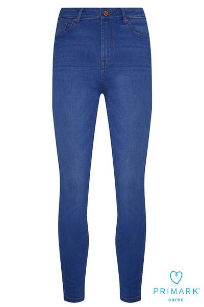 Blue High Waisted Sustainable Cotton Jeans