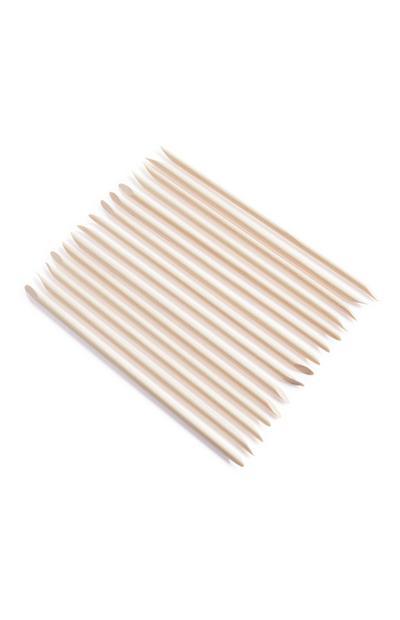 Nagelhautstäbchen aus Holz, 15er-Pack