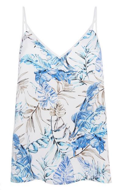 Pyjama-Trägertop mit Blumenmuster