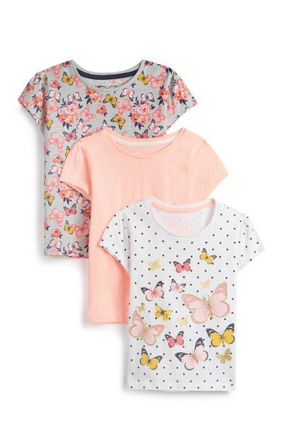 T-Shirts mit Schmetterlingsmotiv für Babys (M), 3er-Pack