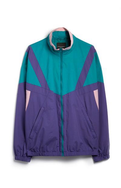 Grün-violette Jacke
