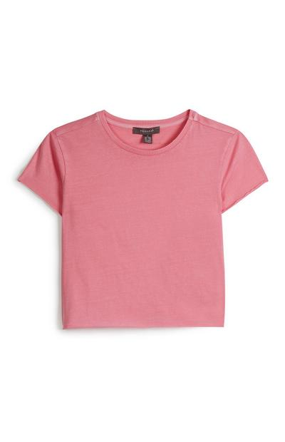Kurzes Top in Pink