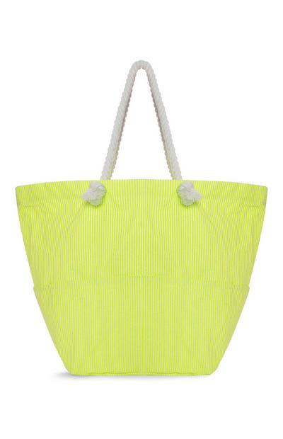 Yellow Stripe Shopper